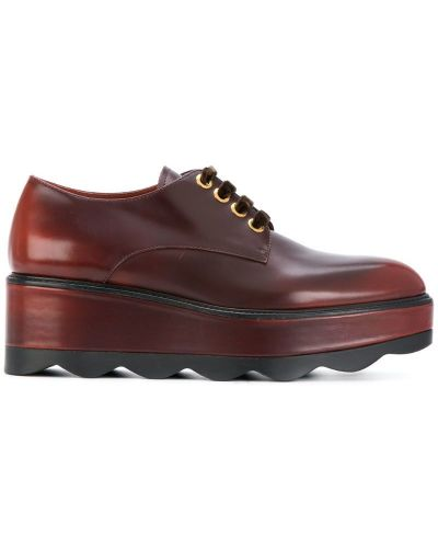 Туфли на танкетке кожаные Prada