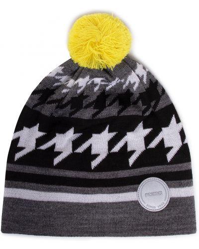 Szara czapka z akrylu Reima