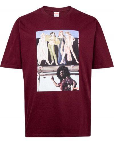 T-shirt bawełniana krótki rękaw z printem Supreme