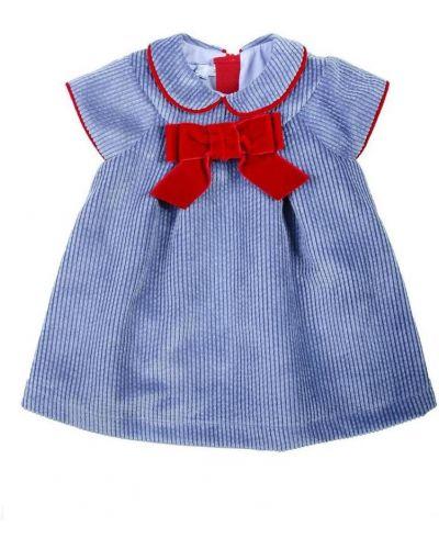 Prążkowana sukienka z aksamitu Mimisol
