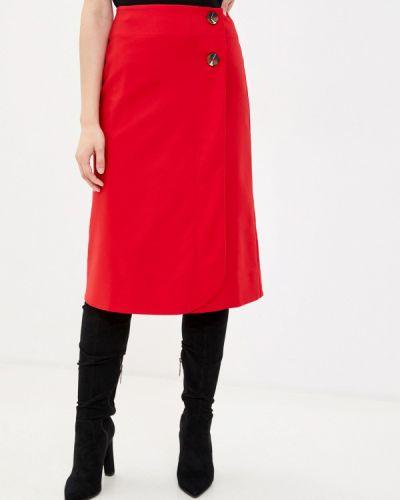 Красная юбка свободного кроя Remix