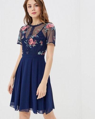 Синее платье весеннее Little Mistress