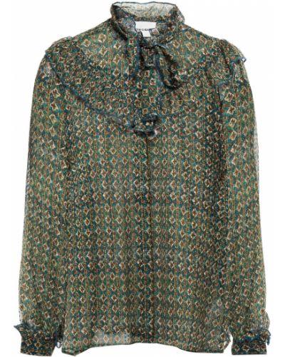 Zielona bluzka zapinane na guziki Antik Batik