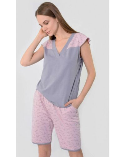 Пижама серая розовый N.el.