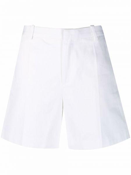 Хлопковые белые джинсовые шорты с карманами Marc Jacobs