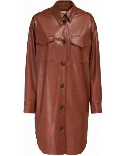 Кожаное восточное платье с манжетами с карманами Designers Remix