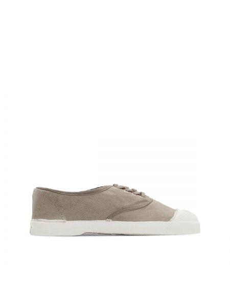 Кроссовки на шнуровке серебряного цвета Bensimon