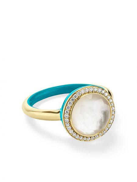 Niebieski pierścionek perły Ippolita