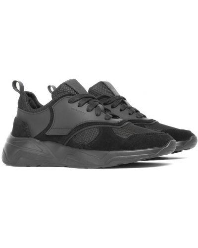 Замшевые кроссовки - черные Shamrock