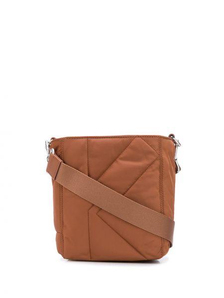 С ремешком коричневая кожаная сумка на плечо Kenzo