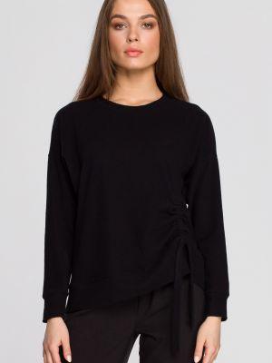 Czarny pulower bawełniany casual Stylove