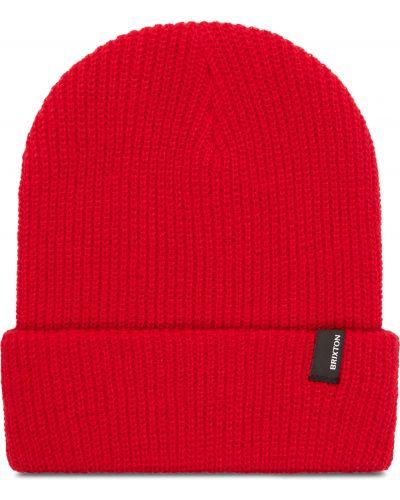 Czerwona czapka z akrylu Brixton