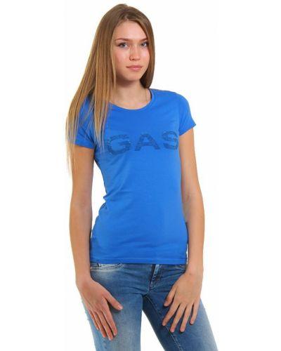 Голубая футболка хлопковая Gas