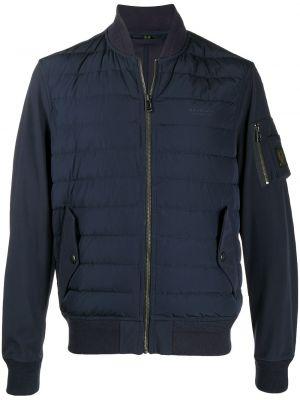Niebieski puchaty z rękawami długa kurtka z kieszeniami Belstaff