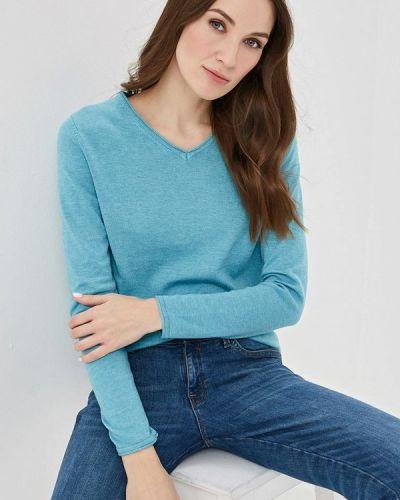Голубой пуловер Sela