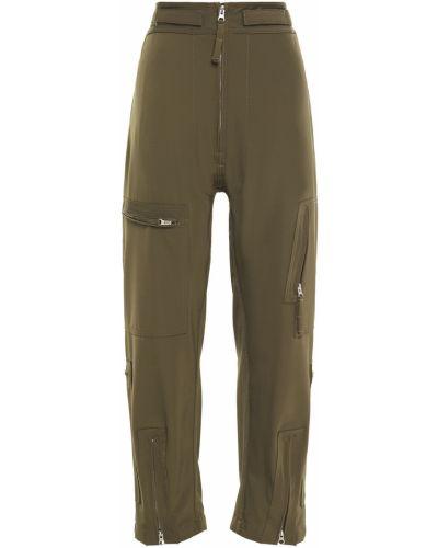 Zielone spodnie na rzepy Mm6 Maison Margiela