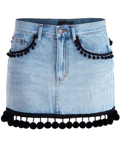 Юбка мини трапеция со шлицей Marc Jacobs