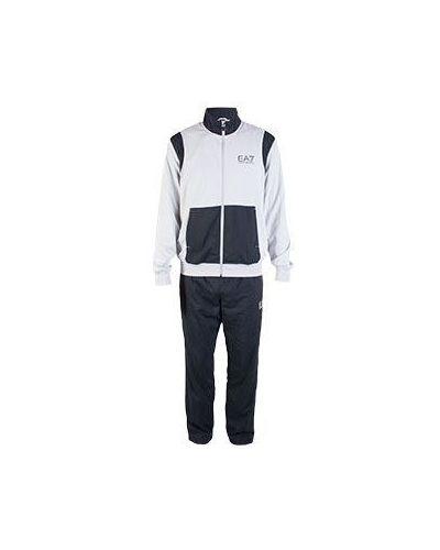 Серый спортивный костюм Ea7