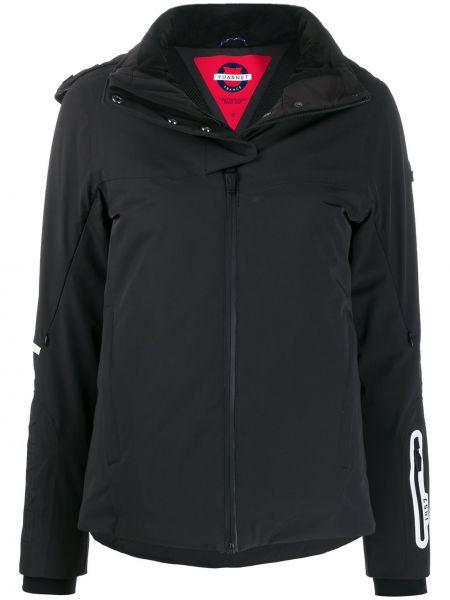 Куртка с капюшоном горнолыжная черная Vuarnet
