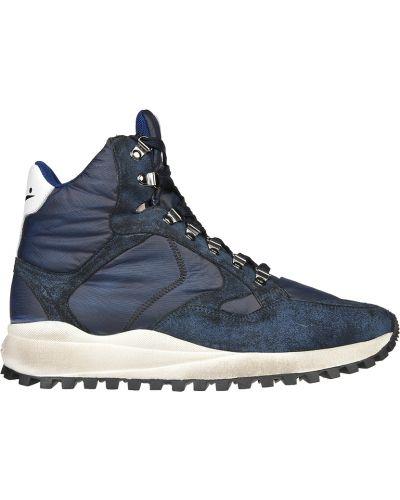 Синие кроссовки замшевые Voile Blanche
