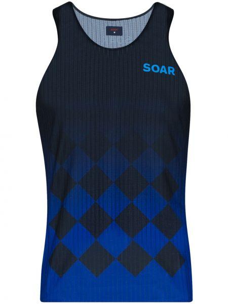 Облегченная текстильная синяя спортивная футболка для фитнеса Soar