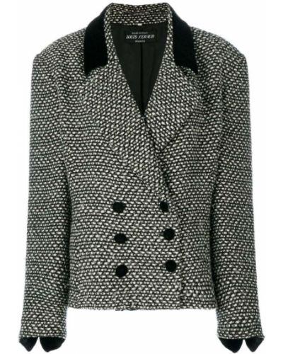 Черный удлиненный пиджак свободного кроя винтажный Louis Feraud Pre-owned