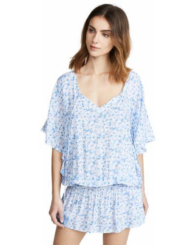 Синее платье винтажное с декольте Tiare Hawaii