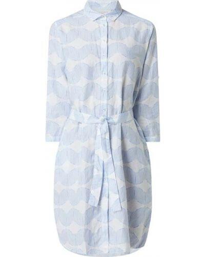 Niebieska sukienka koszulowa bawełniana Eterna