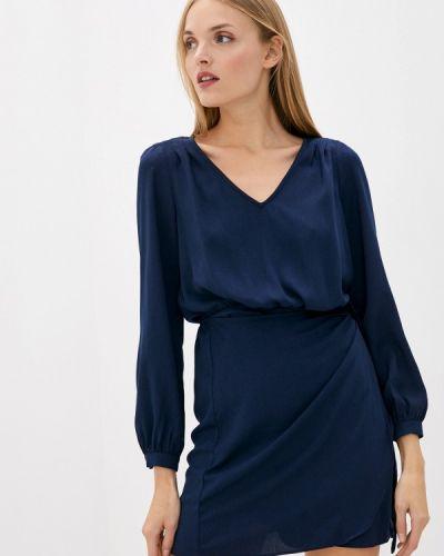 Синее платье с запахом Naf Naf