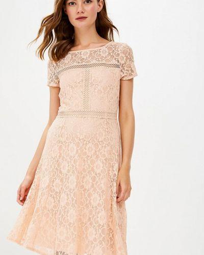 Бежевое платье осеннее Wallis