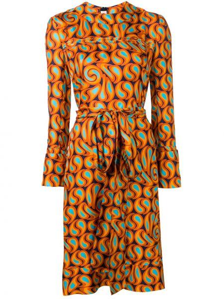 Платье с поясом трапеция прямое Marni