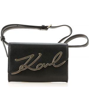 Skórzana torebka torba na torbę na ramię Karl Lagerfeld