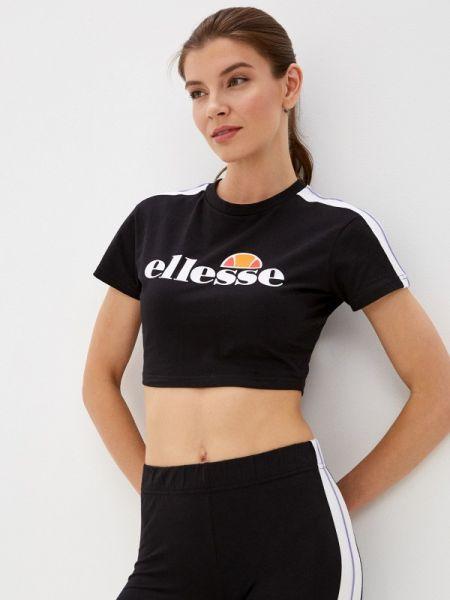 Поло футбольный черное Ellesse