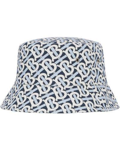 Biała czapka bawełniana Burberry