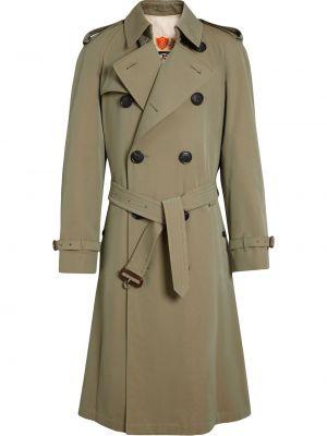 Zielony bawełna bawełna płaszcz prążkowany Burberry