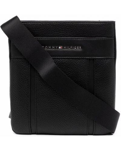 Черная сумка из полиуретана Tommy Hilfiger