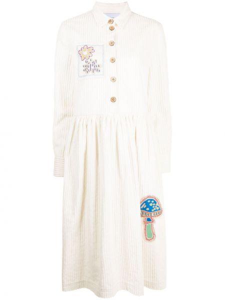 Платье макси длинное - белое Mira Mikati