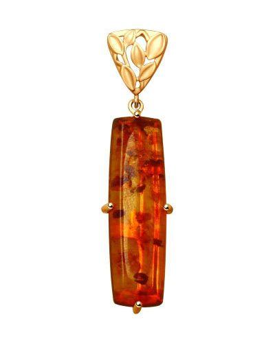 Золотая подвеска серебряный золотой Sokolov