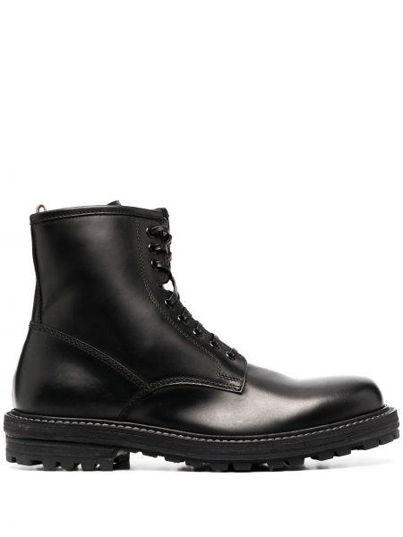 Ażurowy skórzany czarny buty skórzane zasznurować Officine Creative
