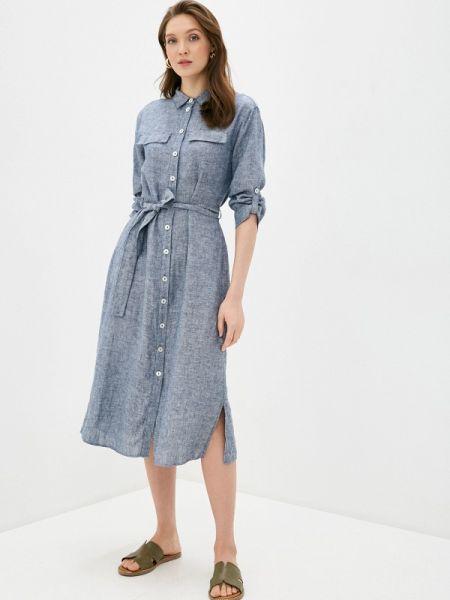 Платье платье-рубашка синее Gerry Weber
