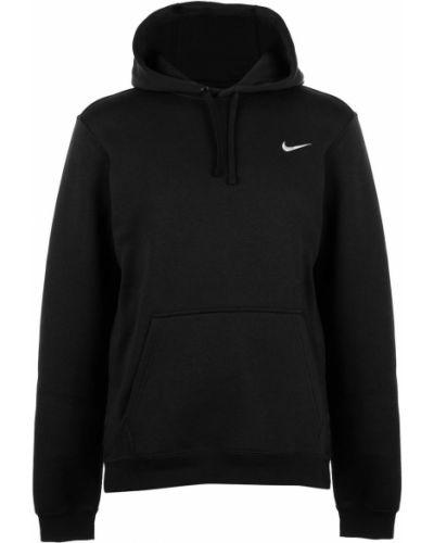 Czarna bluza kangurka z kapturem bawełniana Nike