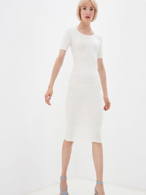 Белое платье осеннее Soky & Soka