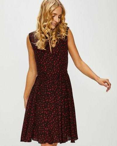 Платье мини с вырезом - черное Review