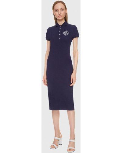 Повседневное синее платье Polo Ralph Lauren