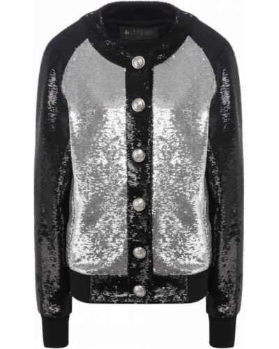 Куртка с пайетками на кнопках Balmain