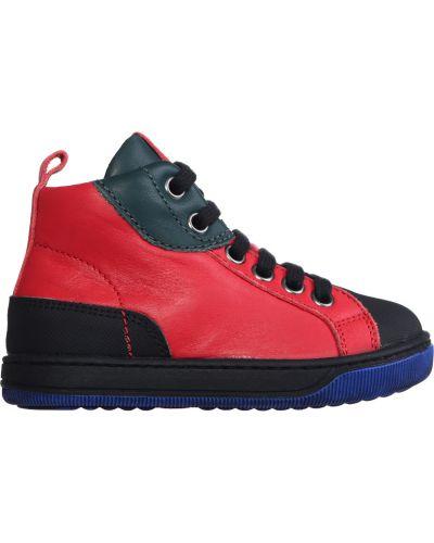 Кеды красные кожаный Naturino