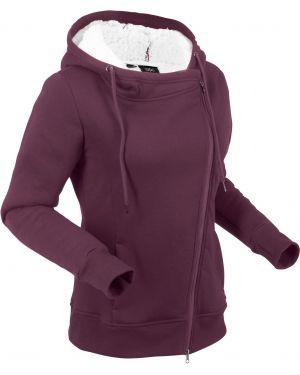 Куртка плюшевая с карманами Bonprix
