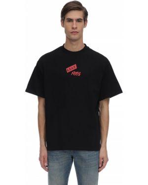 Czarny t-shirt bawełniany oversize A$ap Ferg By Platformx