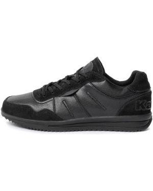 Кожаные классические черные кроссовки на шнуровке Kappa