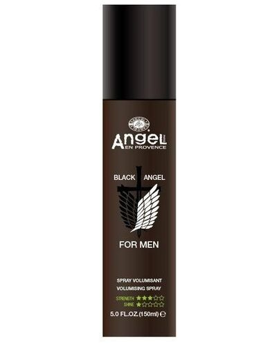Черный спрей для волос Angel Professional